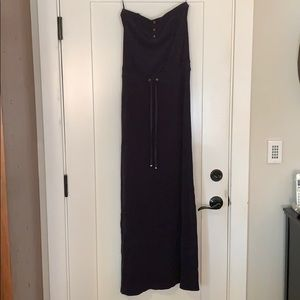 Juicy couture velour strapless maxi dress- medium